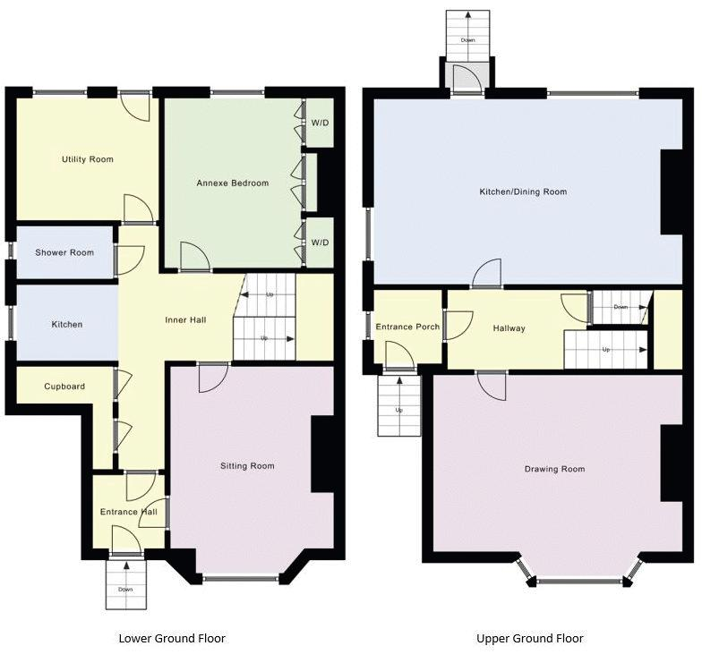 Lower Ground Floor and Upper Ground Floor