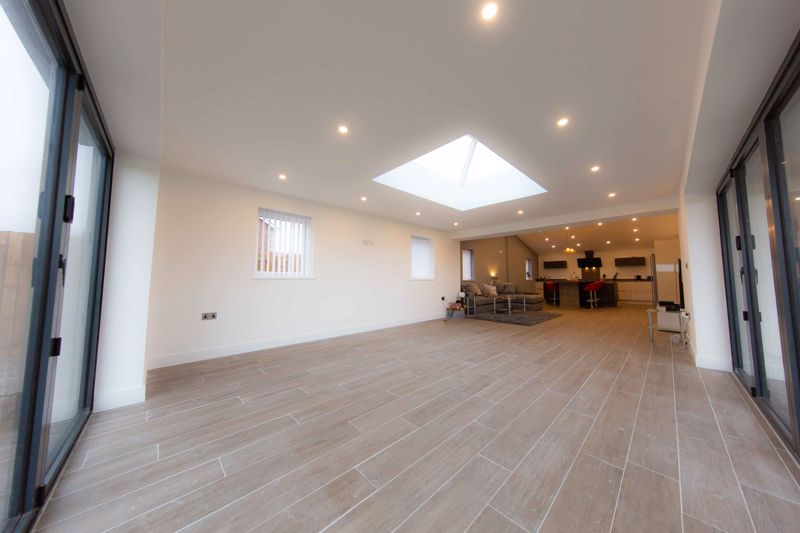 Spacious open plan living room