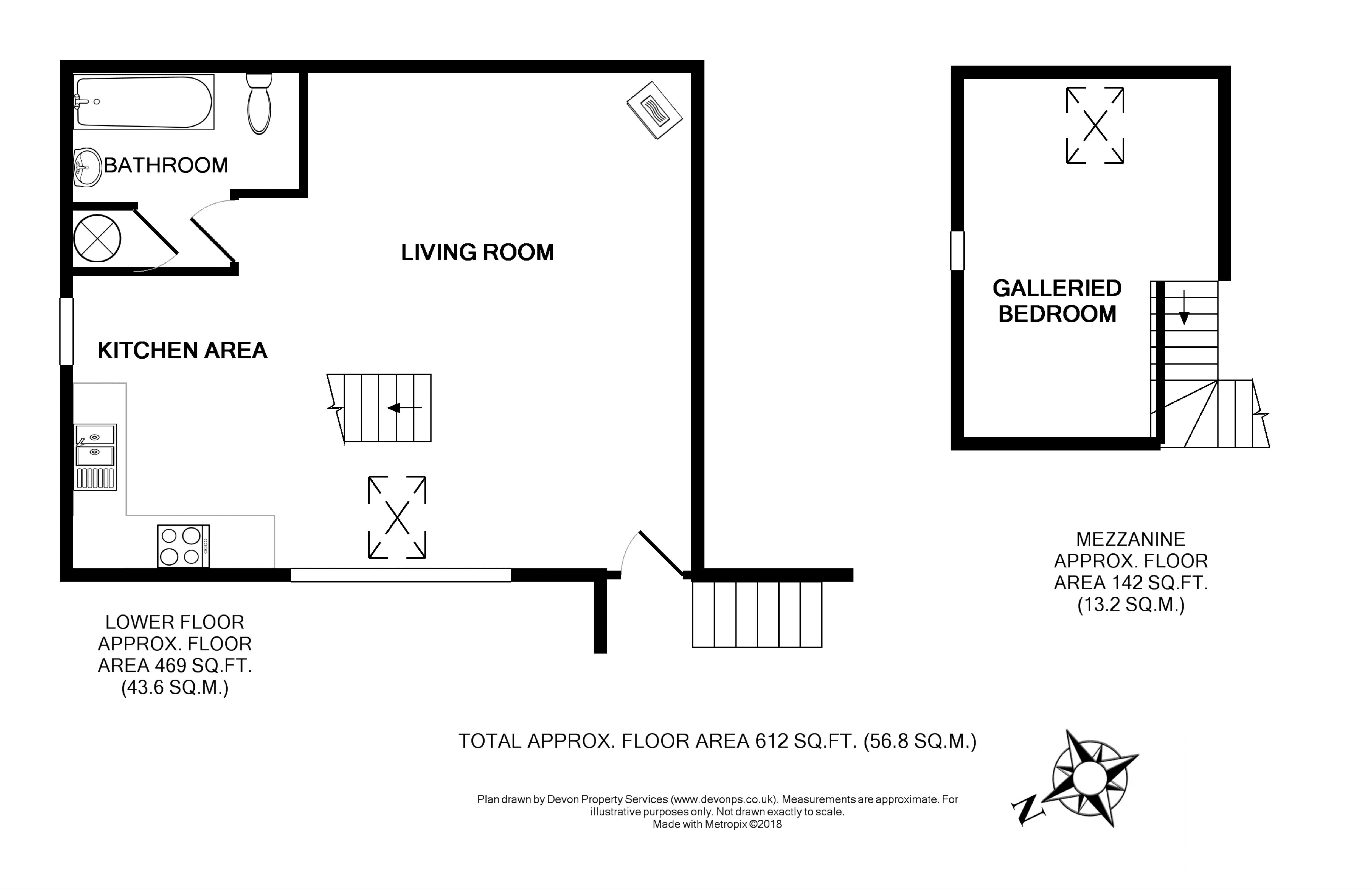 Holiday let floor plan