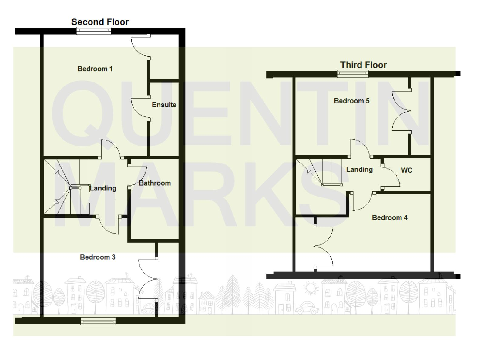 Second & Third Floors