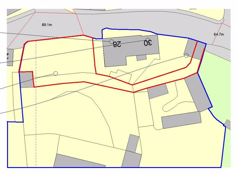 Plot and Access Outlined in Red