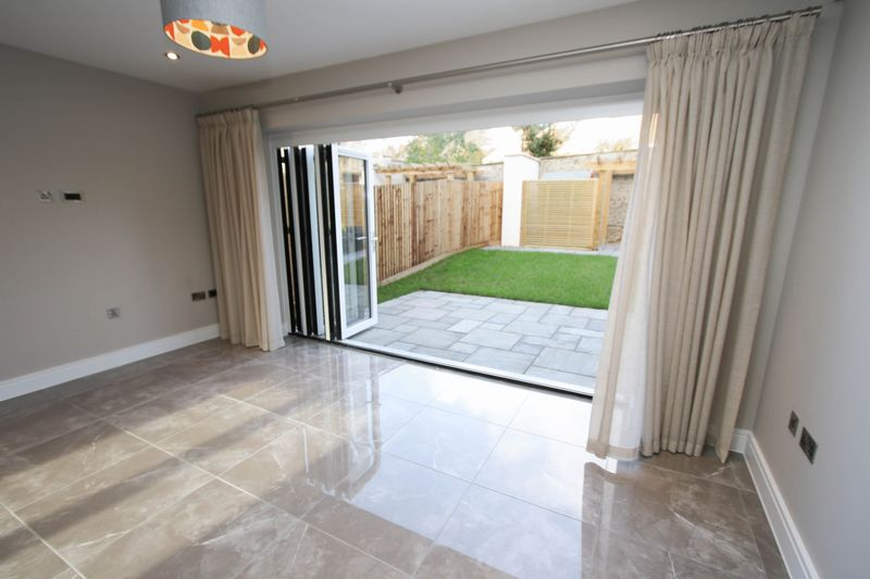 Bi fold doors open into the garden