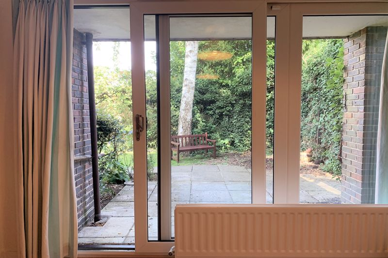 Through Patio Doors to Patio