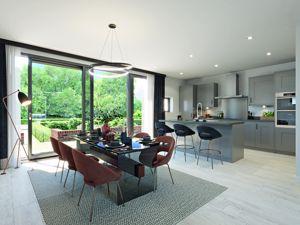Kitchen/dining area CGI