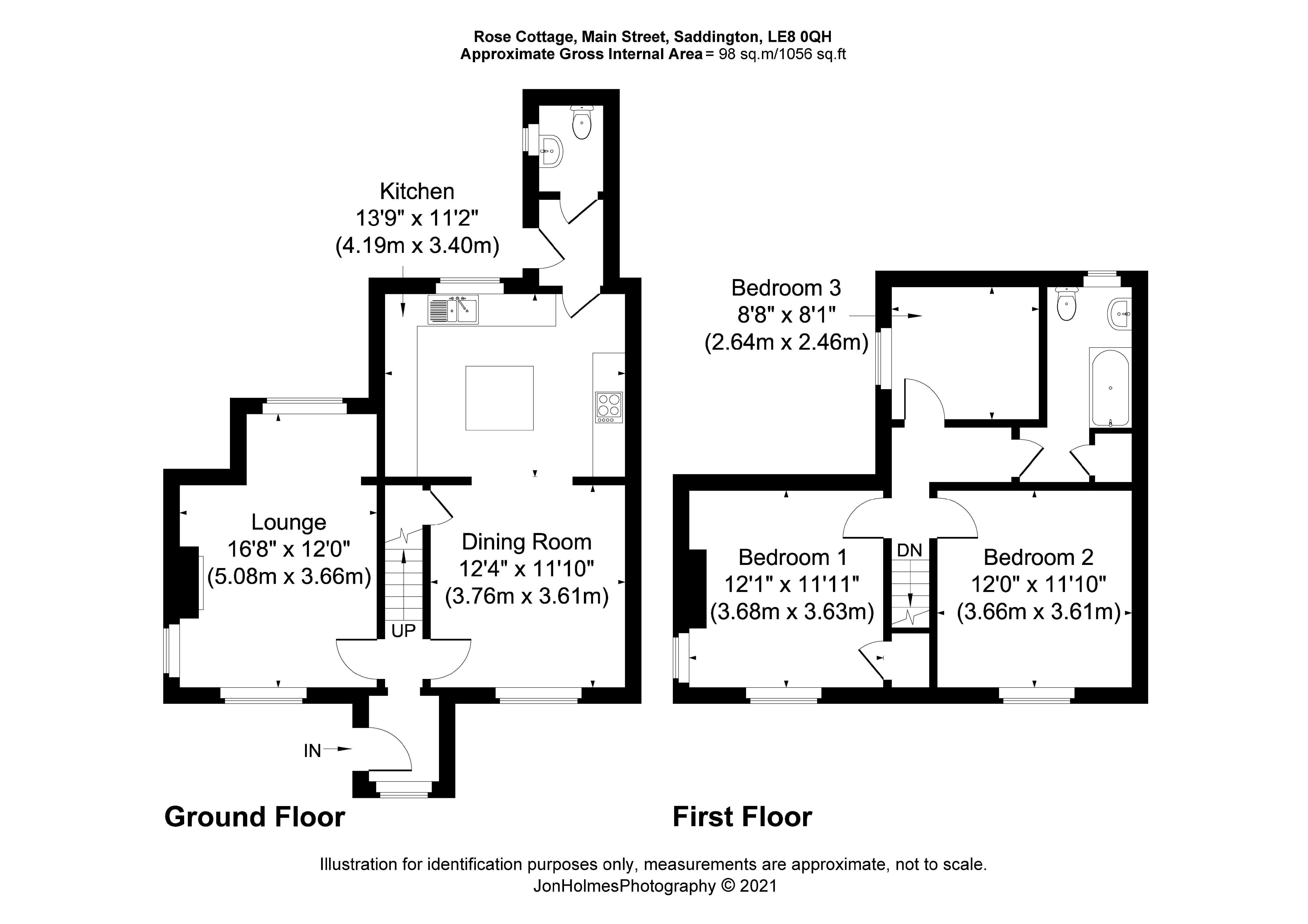 Rose Cottage Floorplan