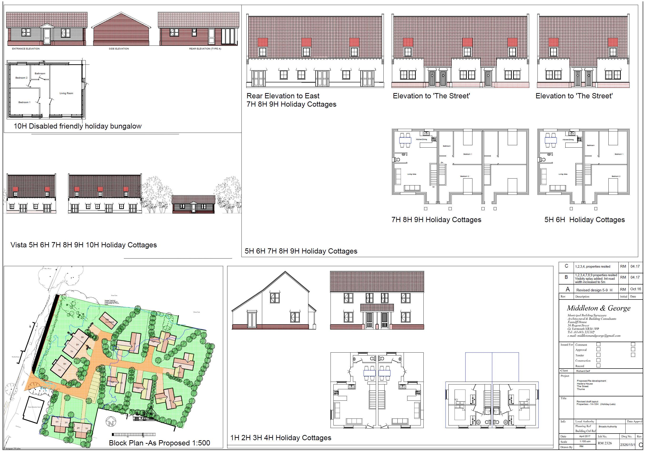 Proposed Holiday Cottages Plan