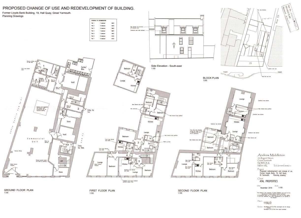 Proposed plan for 7 flats