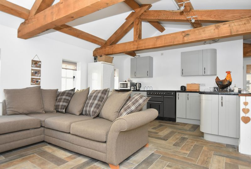 Stables open plan living area with kitchen