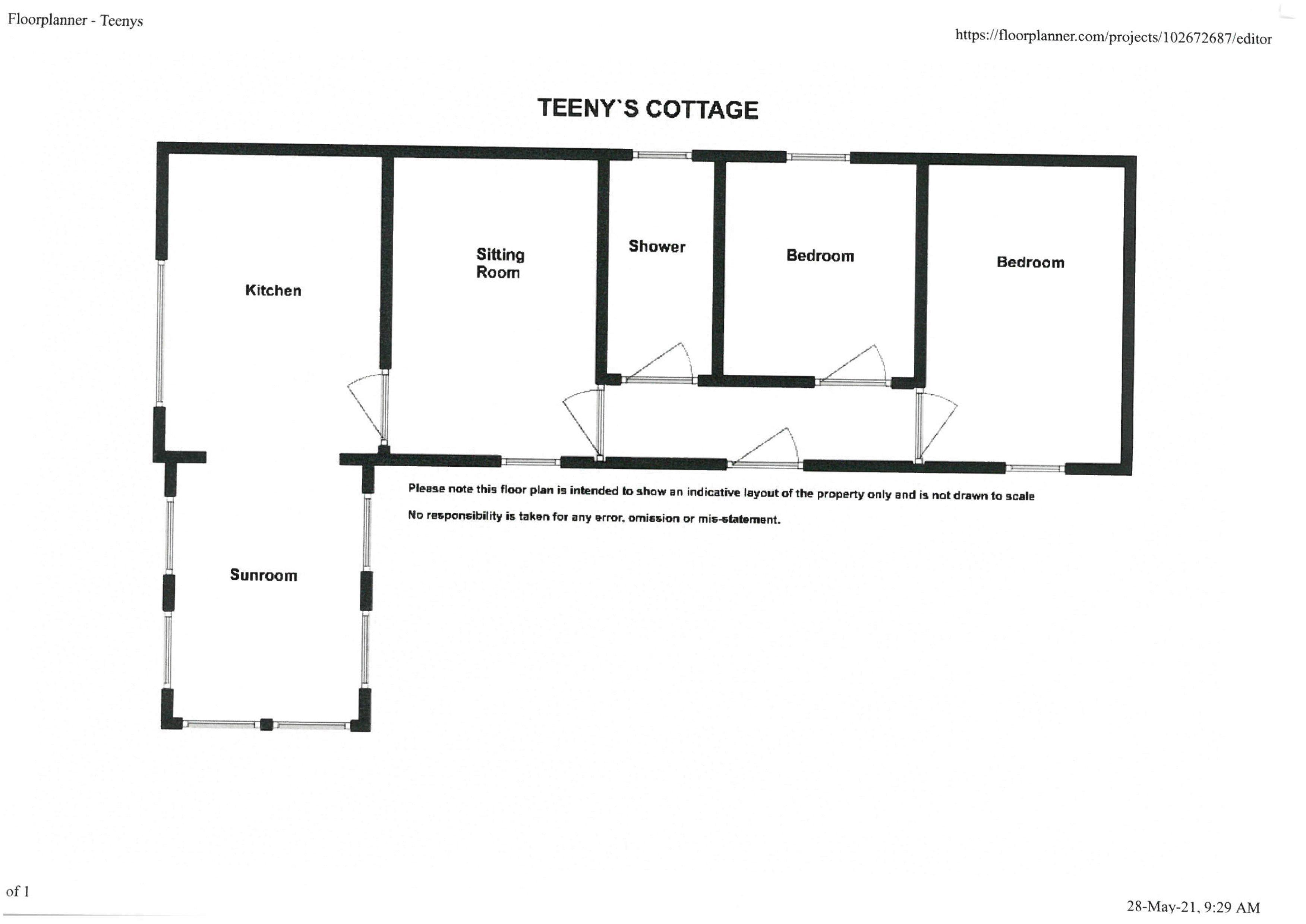 Teeny's Cottage Floorplan