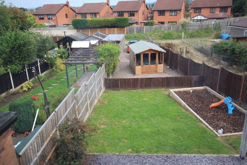 Rear garden and rear driveway