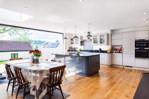 Stunning Full Width Kitchen/Dining/Family Room