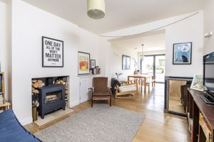 Family Room With Wood Burner