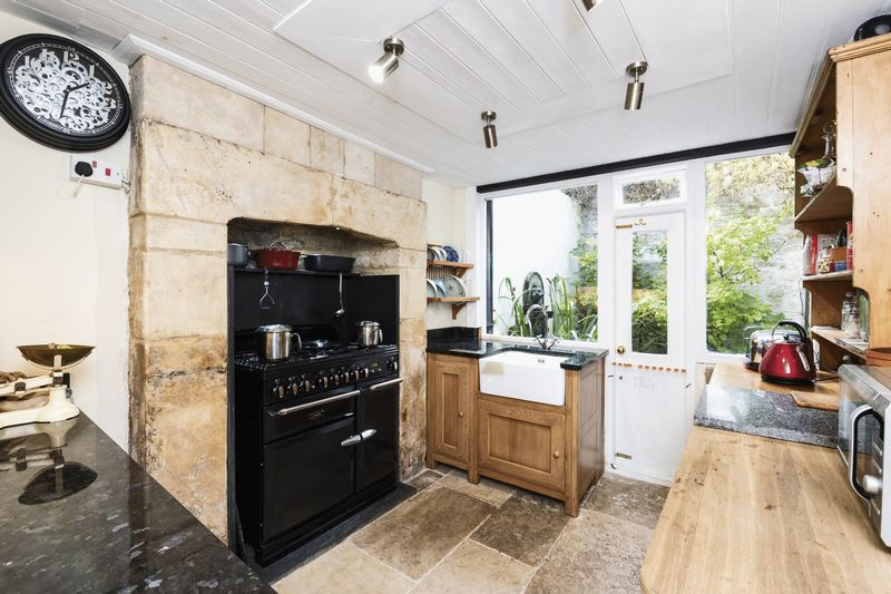 Kitchen With Aga Duel Fuel Stove