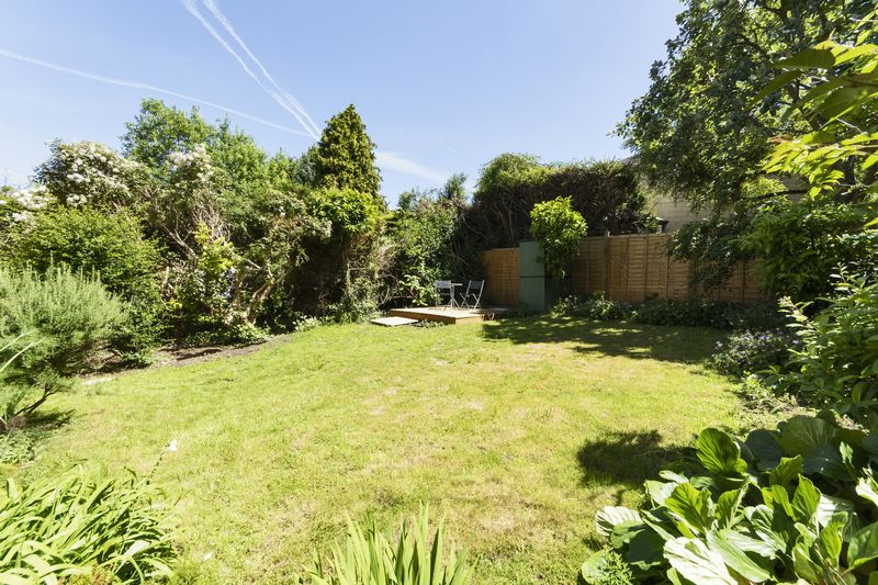 Private Garden Showing Decked Area
