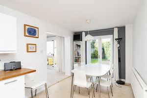 Dining Space with French Doors to Garden