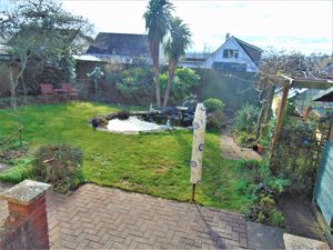 Level Lawn With Feature Pond