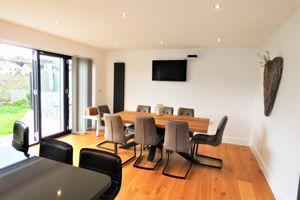 Dining Room With Patio Doors onto  Garden