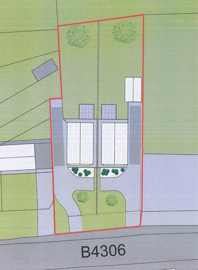 2 New Houses at Land adj. to Banccffosfelen Hall Bancffosfelen