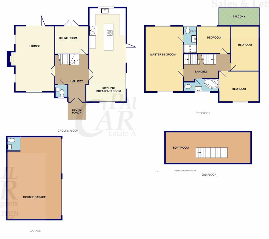 floor plan for Wayside Cottage
