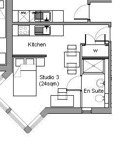 Studio3 floor plan