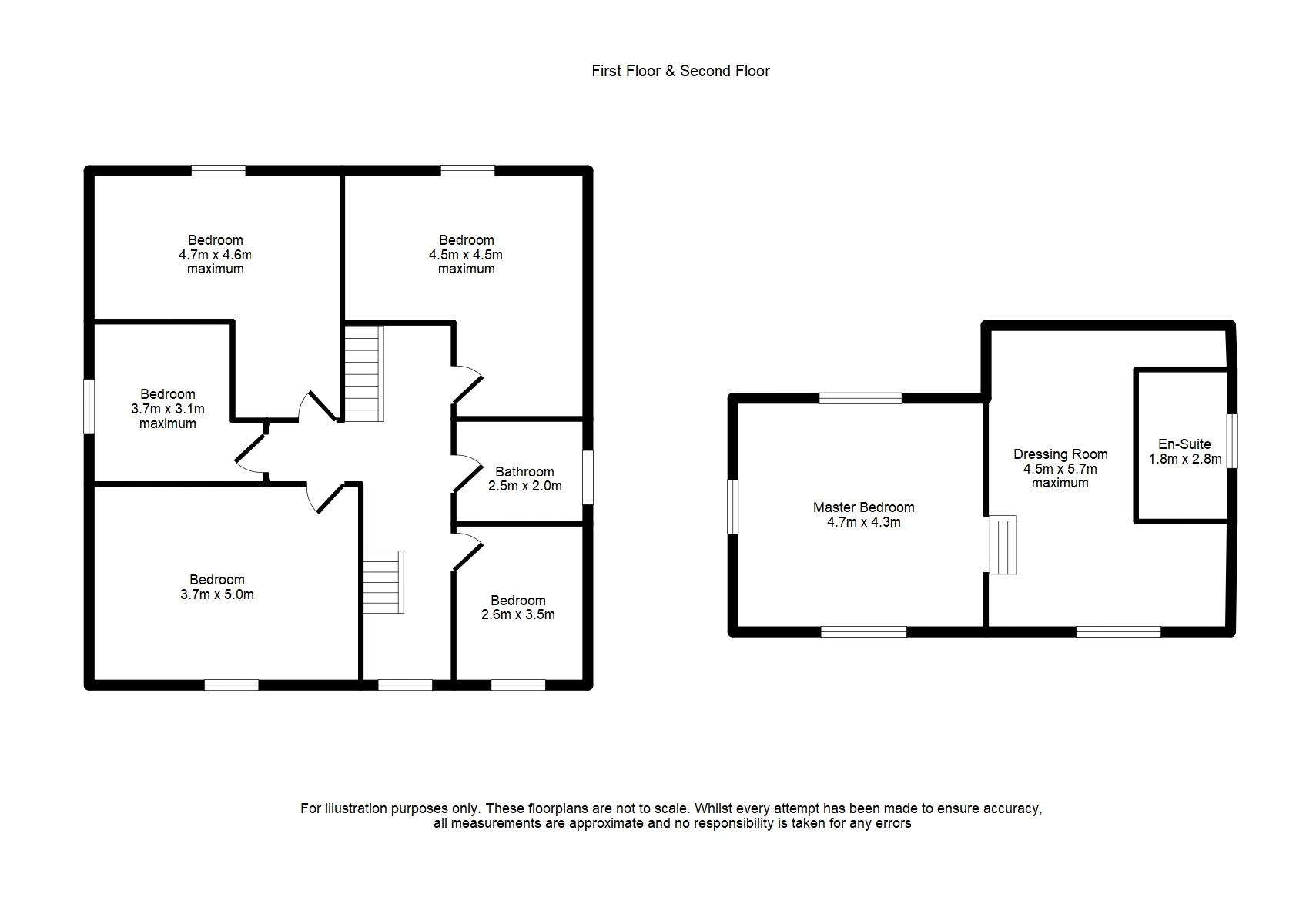 First & Second Floor Floorplan