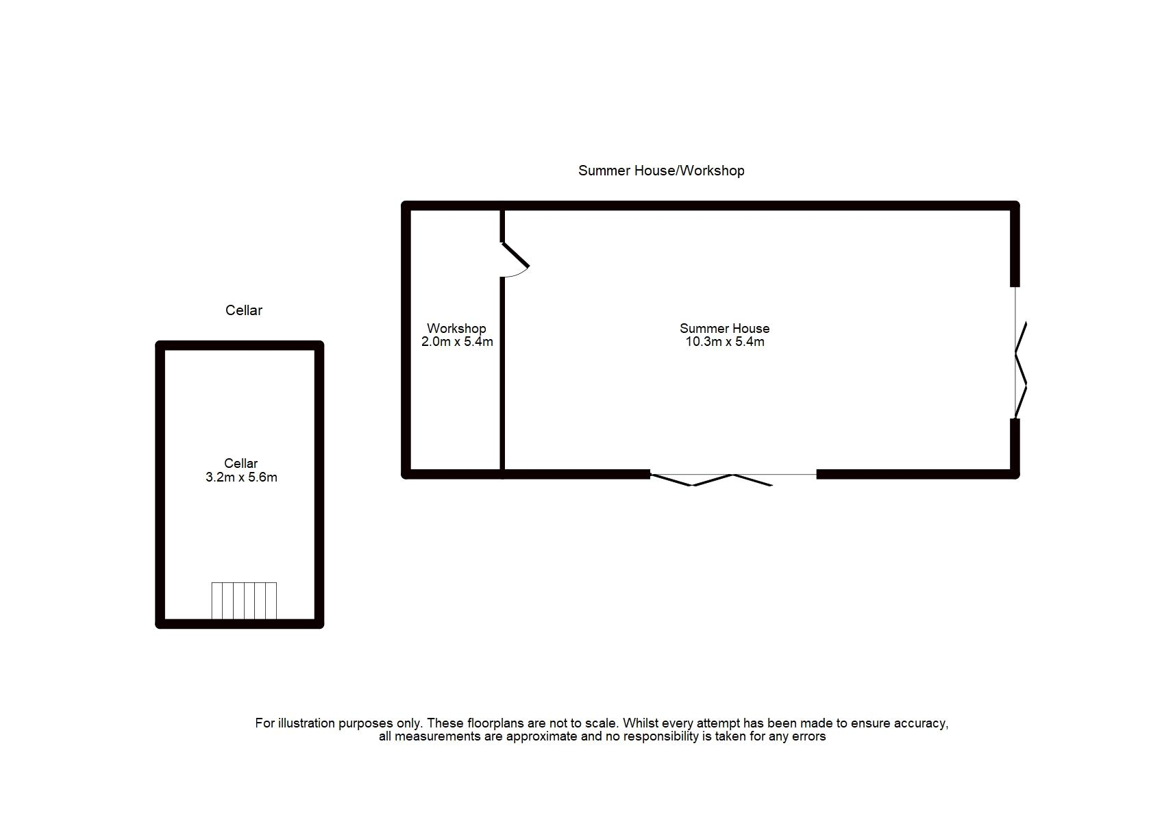 Cellar & External Floorplan