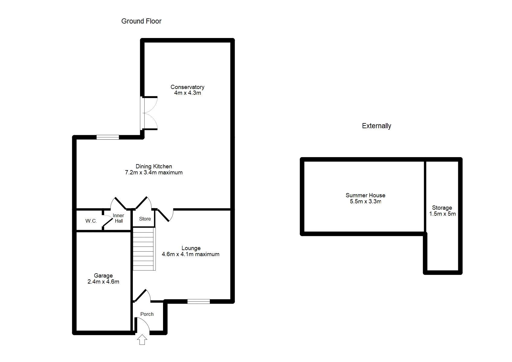 Ground Floor & External Floorplan
