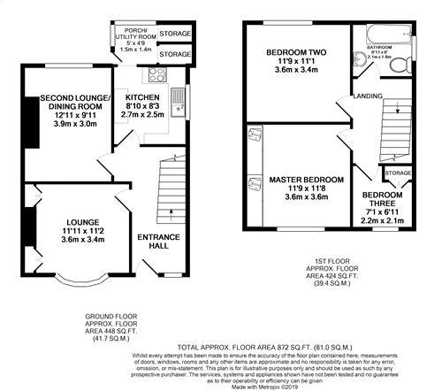 Scale Hall Lane - Floorplan