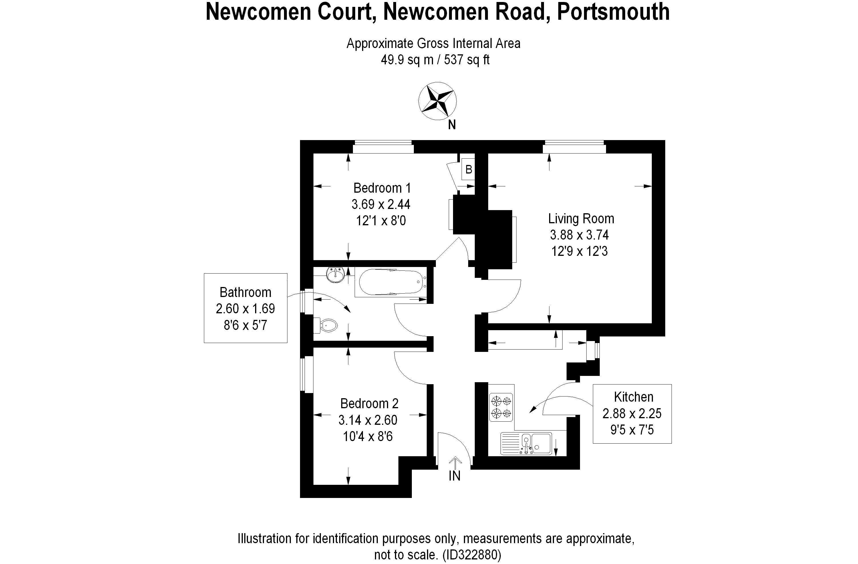 Flat 2 Newcomen Court