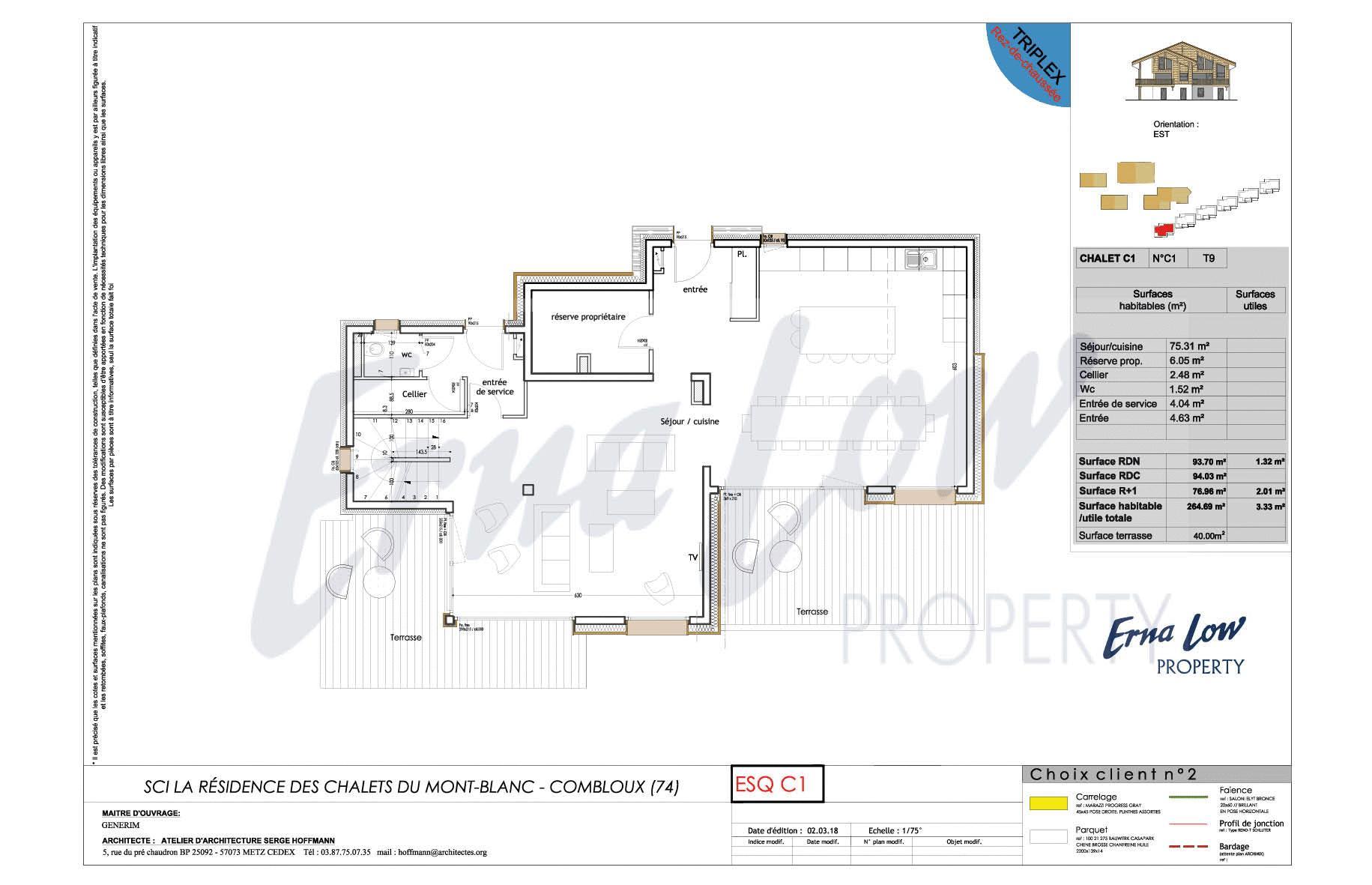 COMBLOUX - CHALETS - LES FERMES DU MONT BLANC (5 BED) EVASION MONT BLANC
