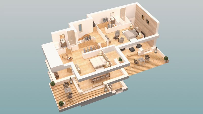 COMBLOUX - CHALETS - LES FERMES DU MONT BLANC (5 BED)