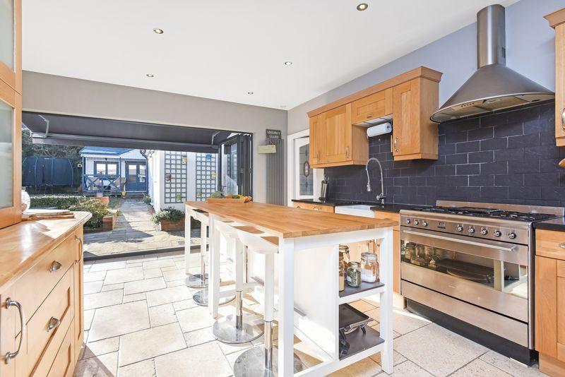 Kitchen with view to garden