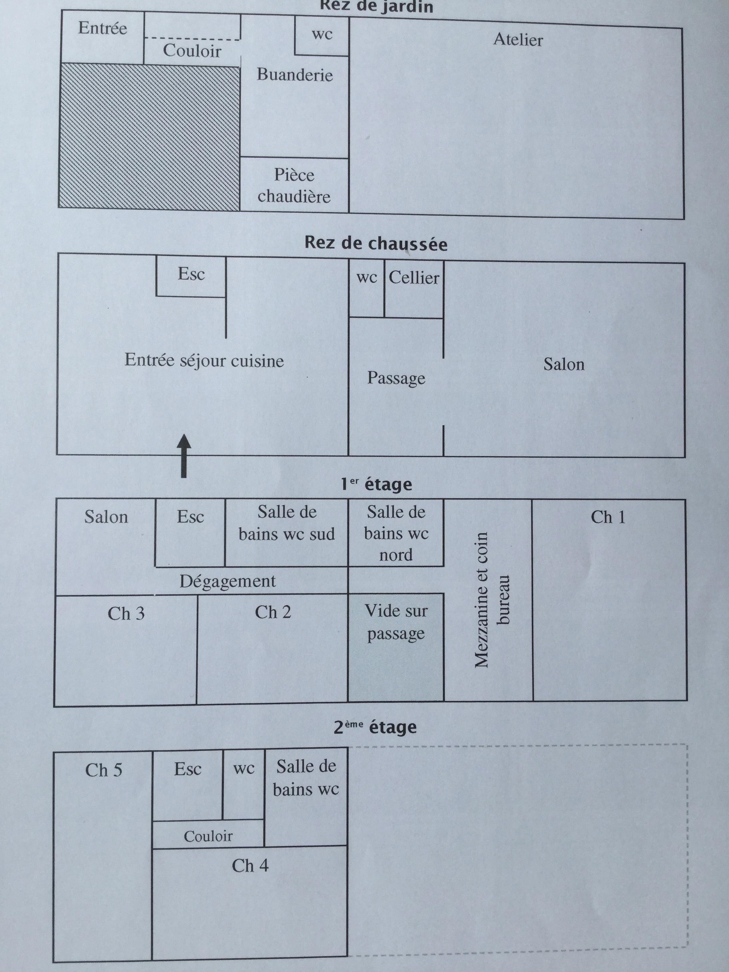 Plan of each of 4 floors