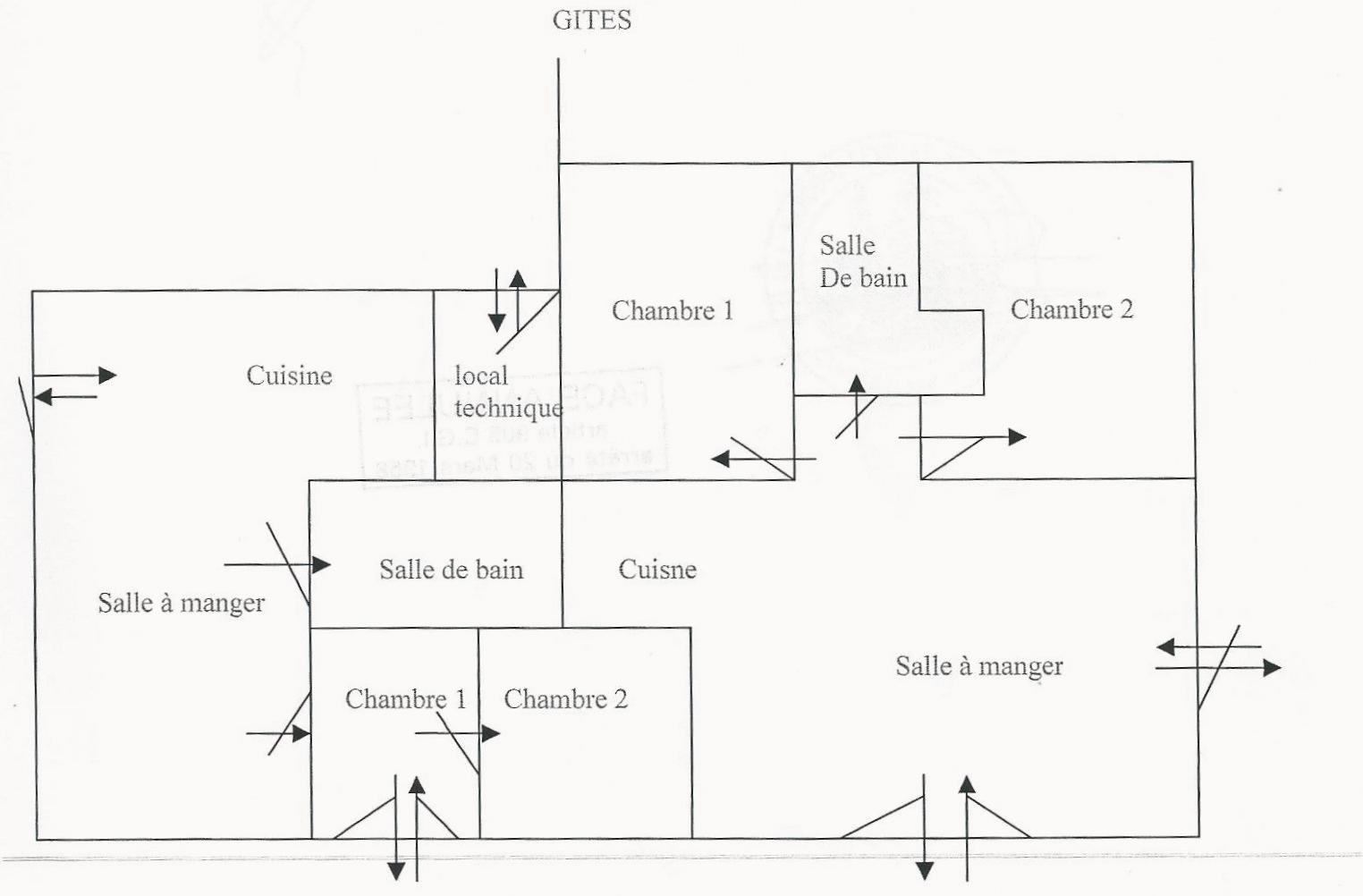 Gite - not to scale