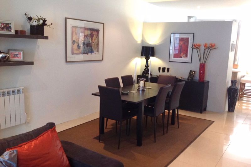 Dining area of the open plan living room