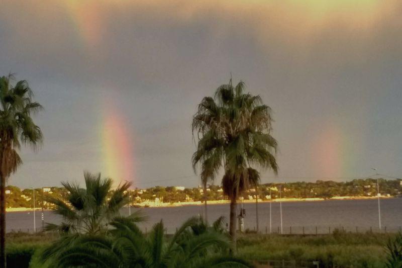Rainbows over Cap d'Antibes