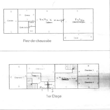 Ground and first floor - not to scale