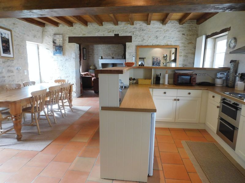 Guest house: kitchen area