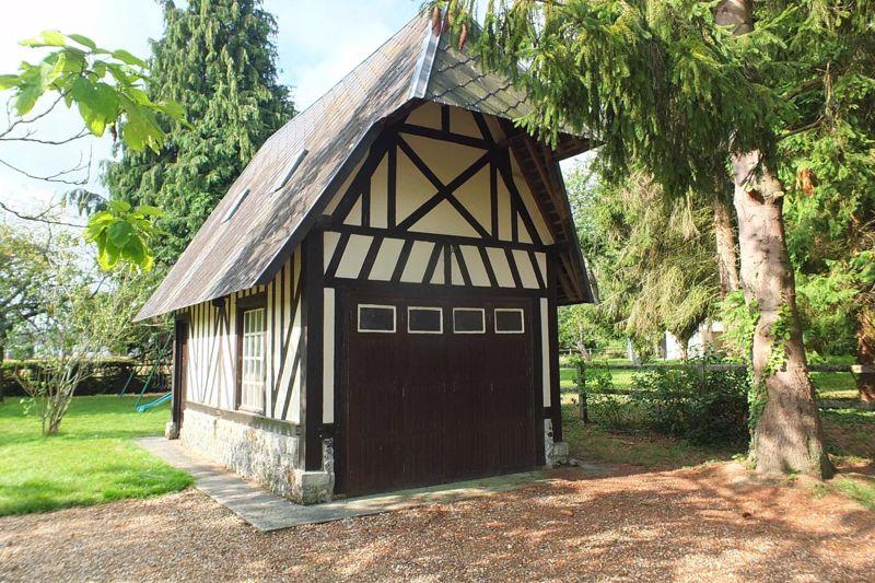 Half timbered garage