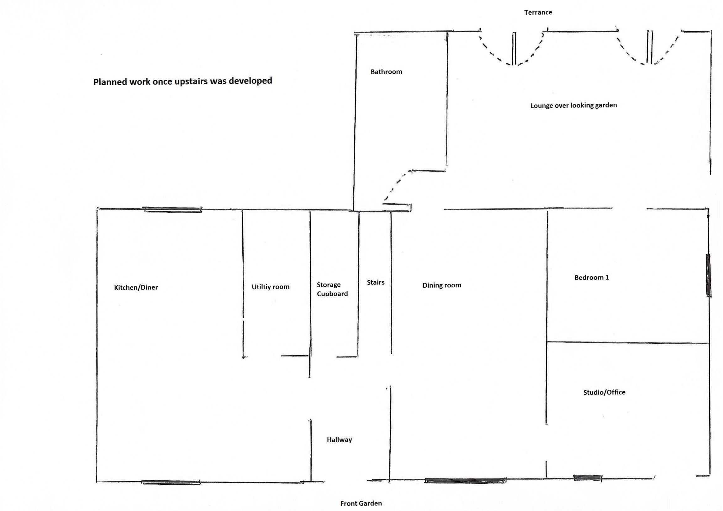 Intended floorplan after final works