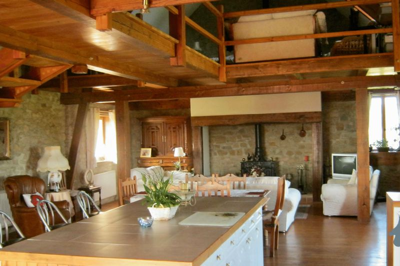 Barn kitchen and living area