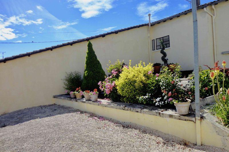 The rear garden and terrace