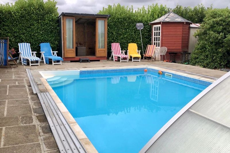 The pool seating area