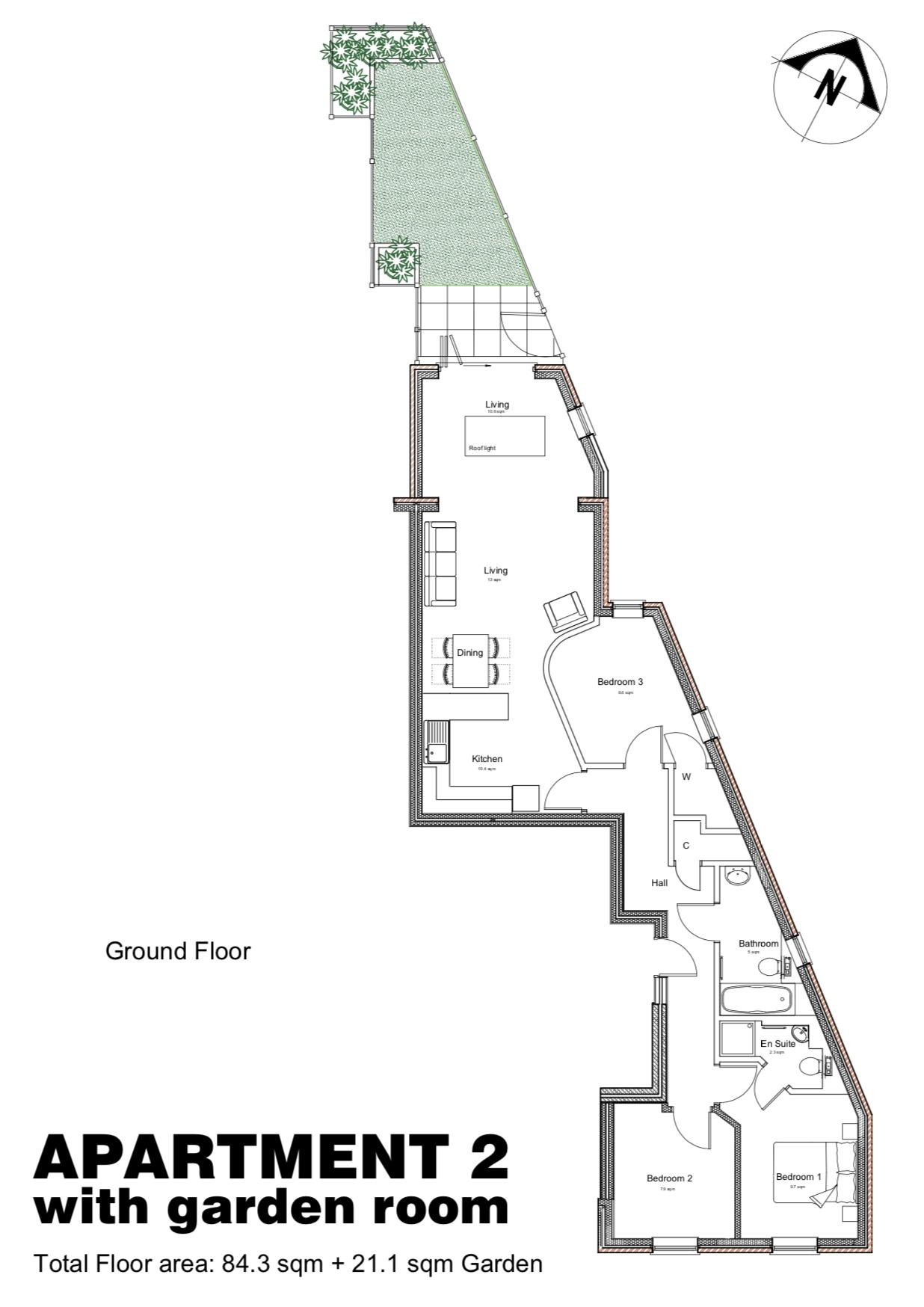 Proposed plan for additional living area