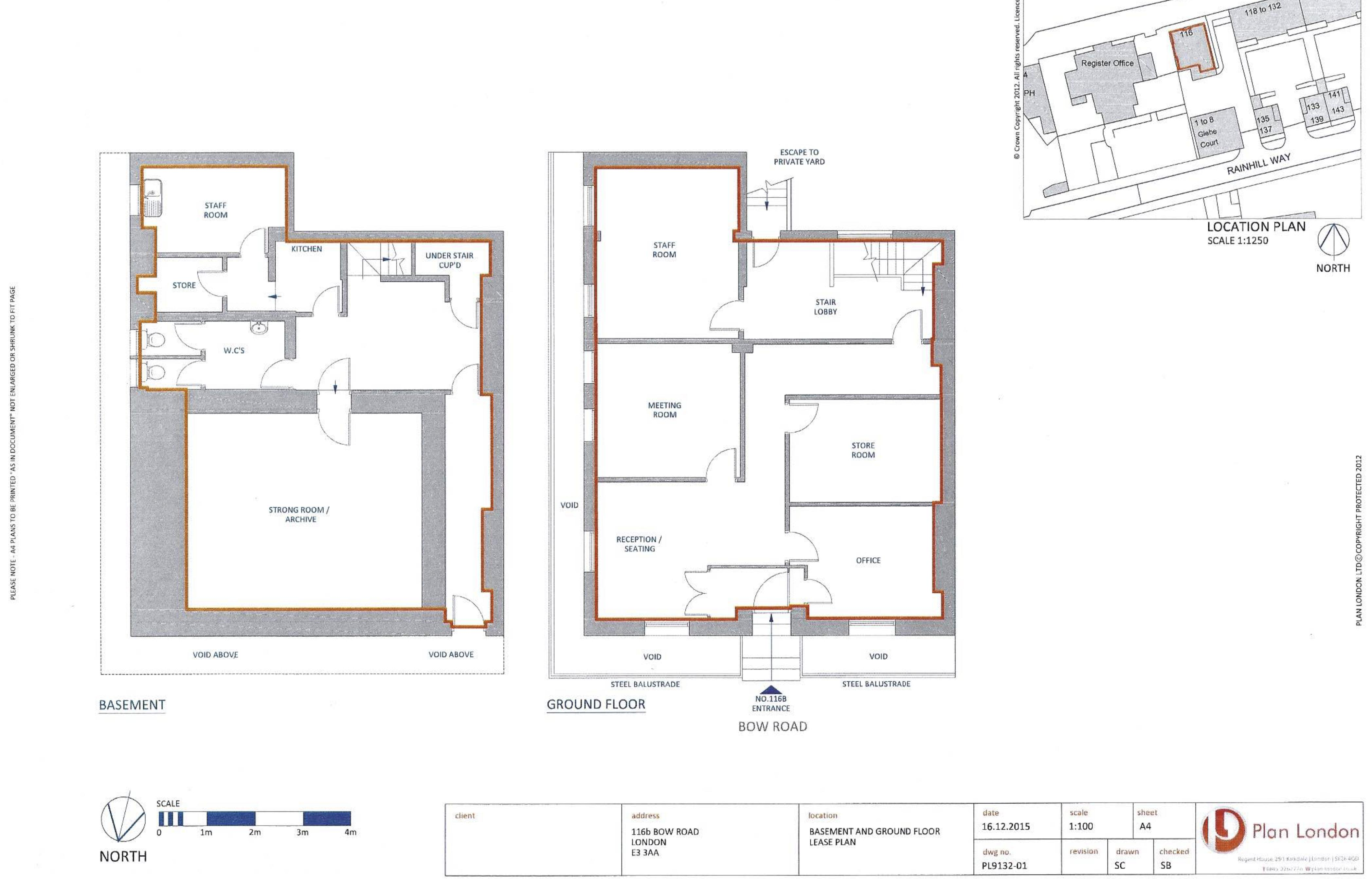 Lease floor plan