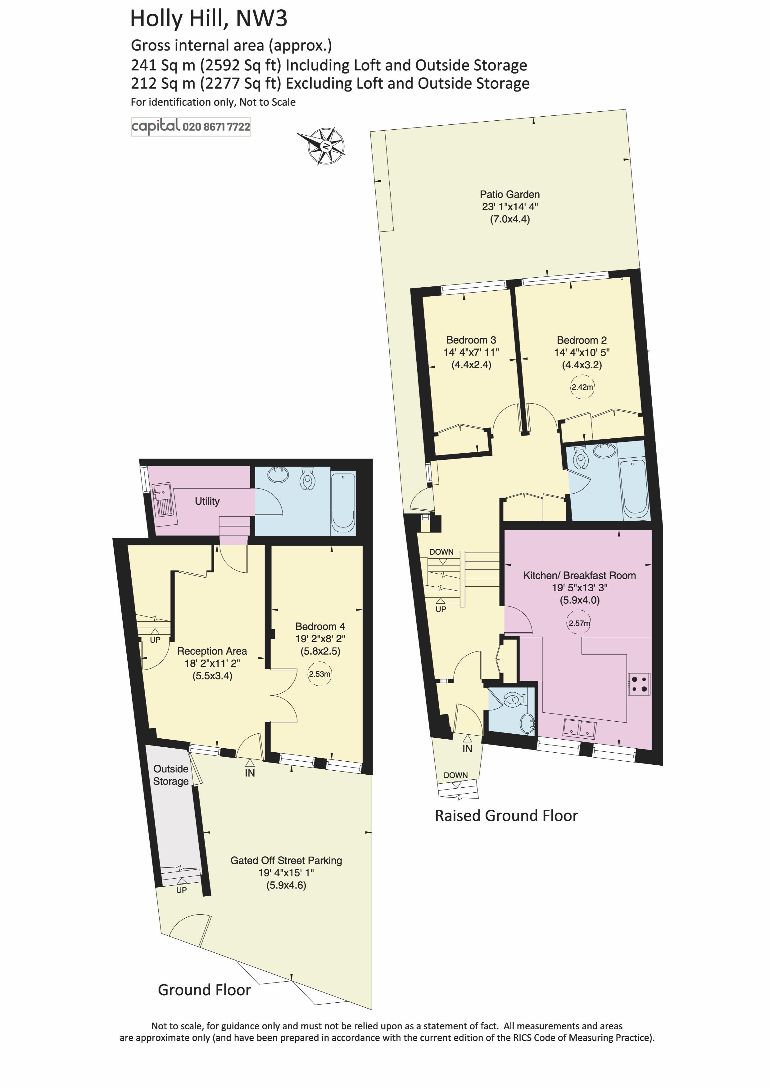 Raised and Ground Floor Plan