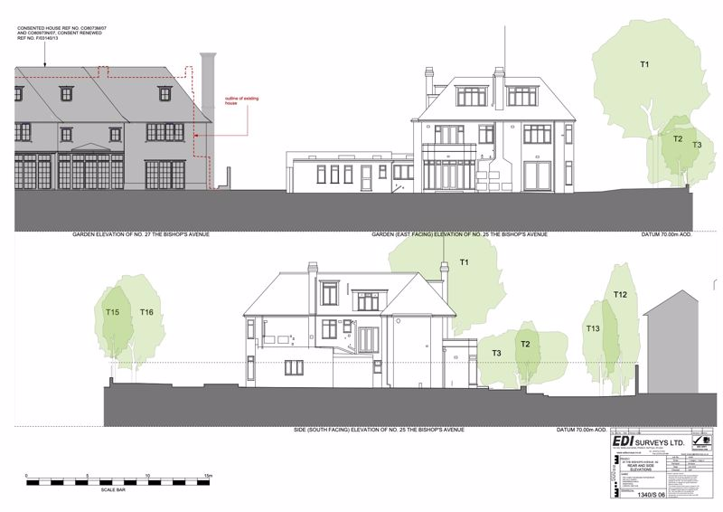 Existing Rear & Side Elevations