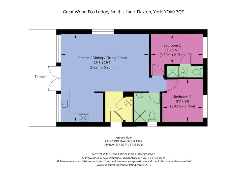Floorplan of lodges