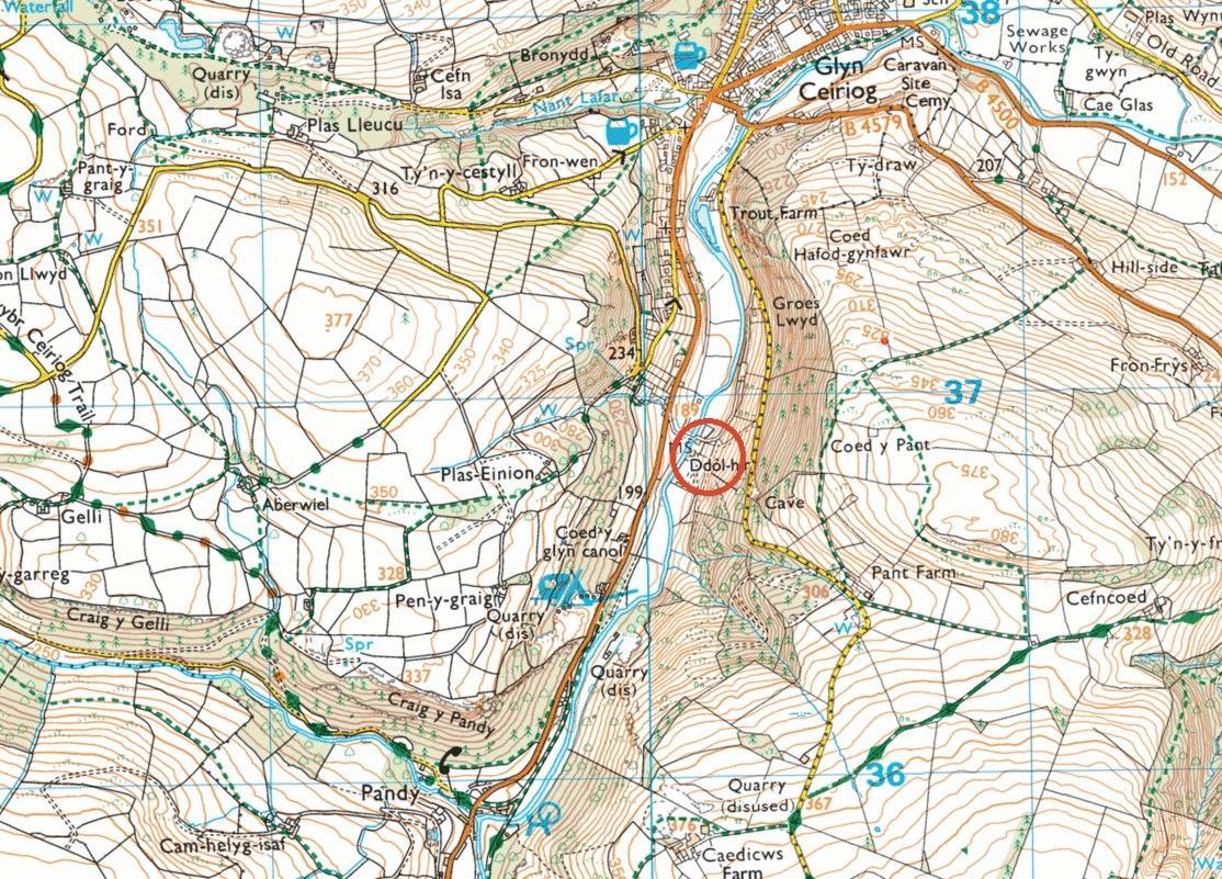 Llanarmon Road Glyn Ceiriog