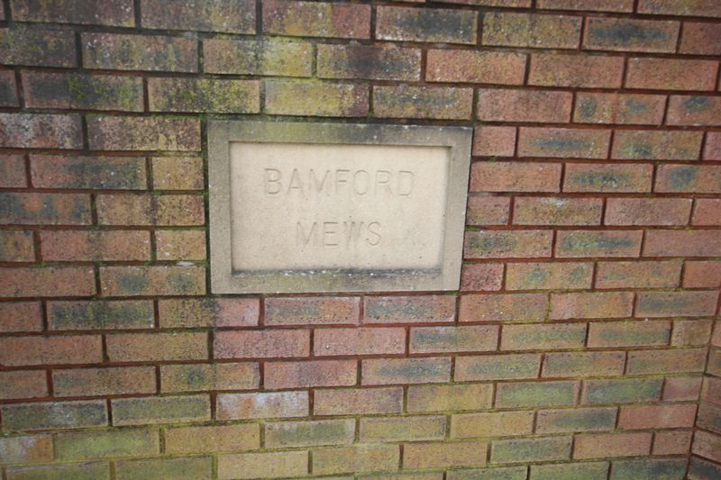 Bamford Mews Plaque